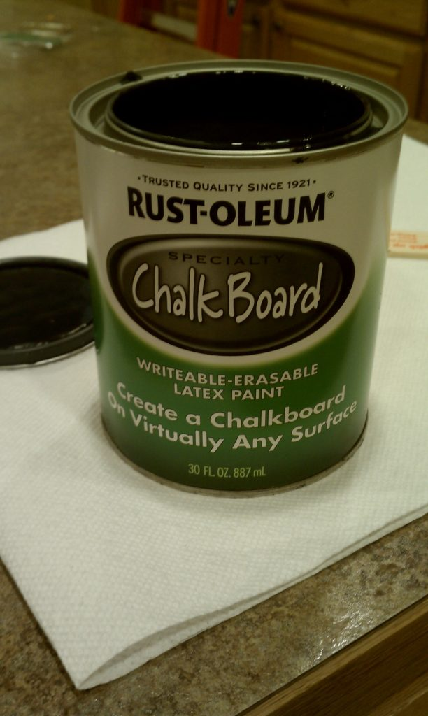 pantry door chalkboard