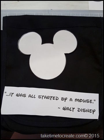 lay out stencil and quote