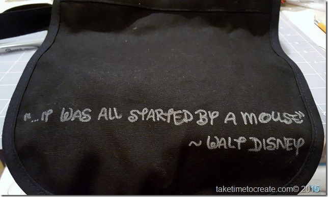 trace quote with sharpie