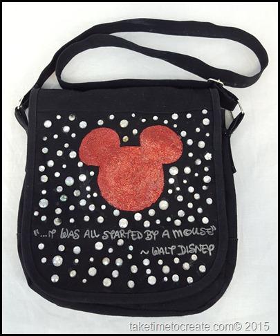 DIY Disney Mickey messenger Bag