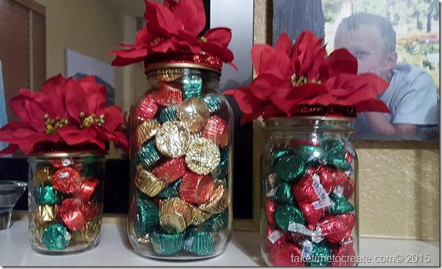 Christmas mason jar