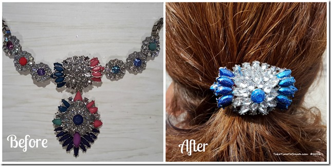 Alter necklace to a barrette