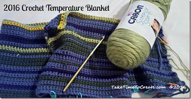 2016 Crochet Temperature Blanket
