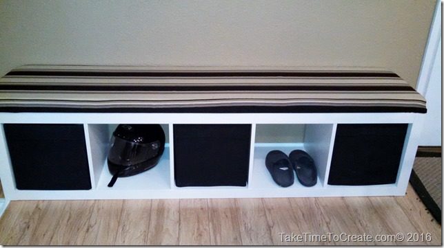 Turn an Ikea bookcase into a bench