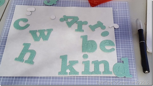 DIY Magnet Chip Board Letters