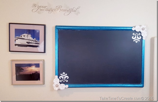 Repurpose an old window into a Chalkboard