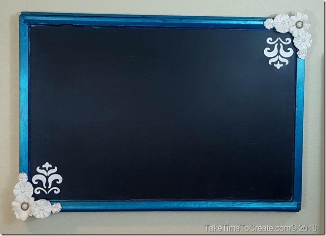 Repurpose an old window into a Chalkboard