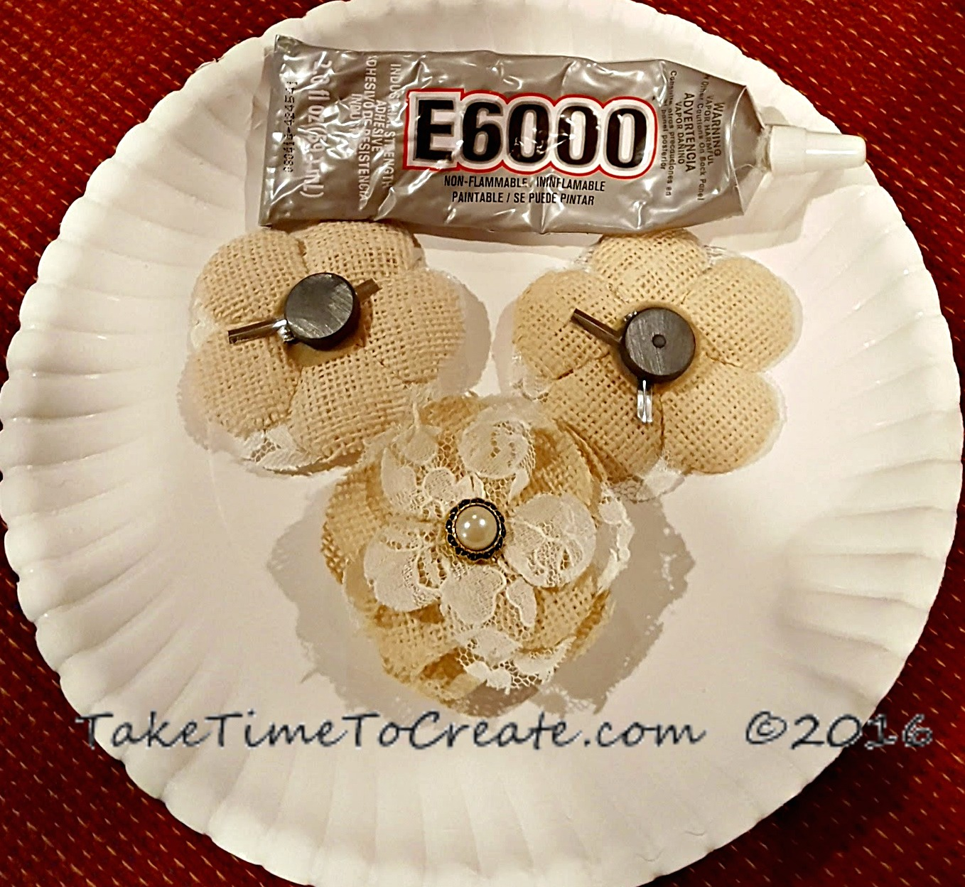 glue magnets to flowers