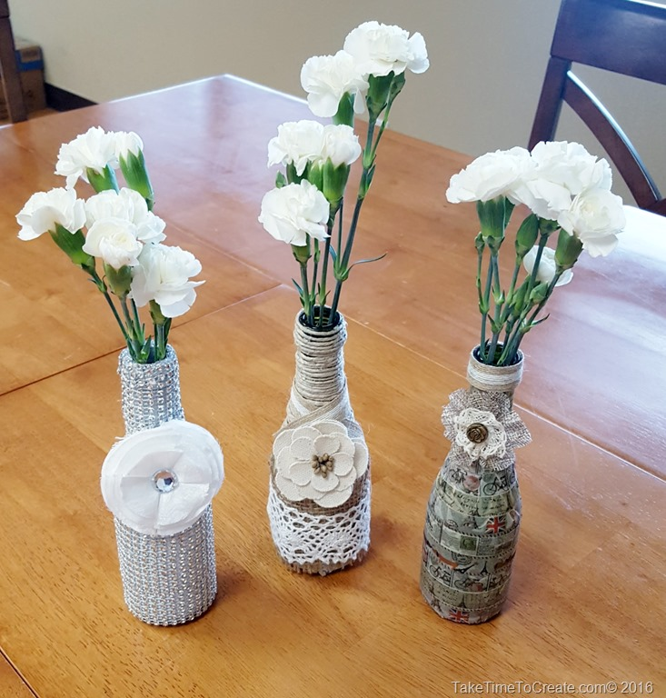 Recycled Glass Vase Diy Take Time To Create