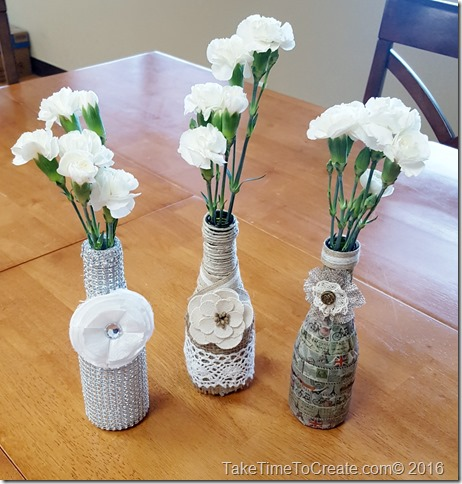 recycled glass vase diy