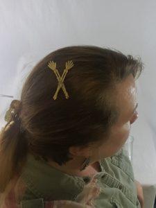 arm bones hair clip