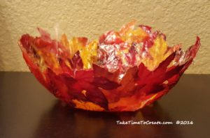 diy-bowl-from-dollar-store-leaves