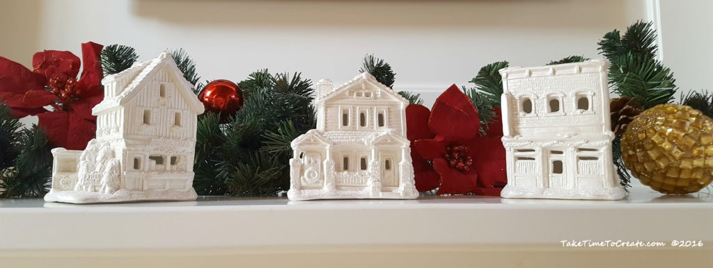 My finished Christmas houses on display