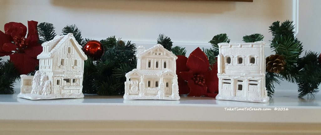 painted Christmas houses