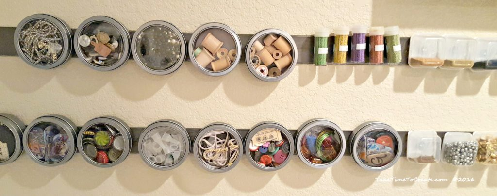 Metal Strips for Craft Room Organization