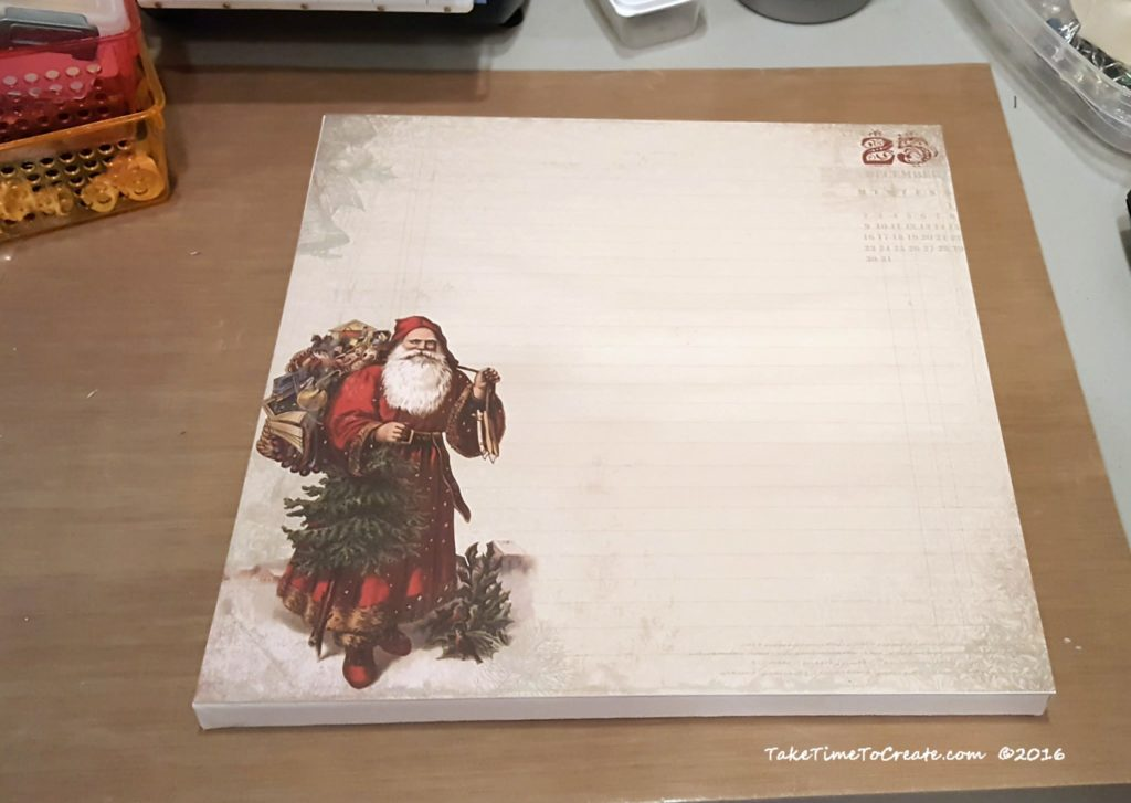 santa on canvas