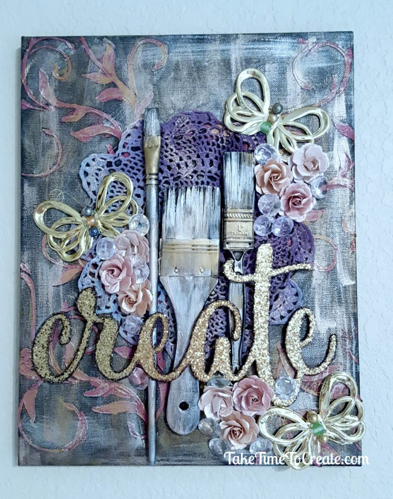 create mixed media canvas