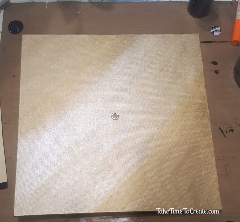 paint the canvas board on DIY Chess Clock