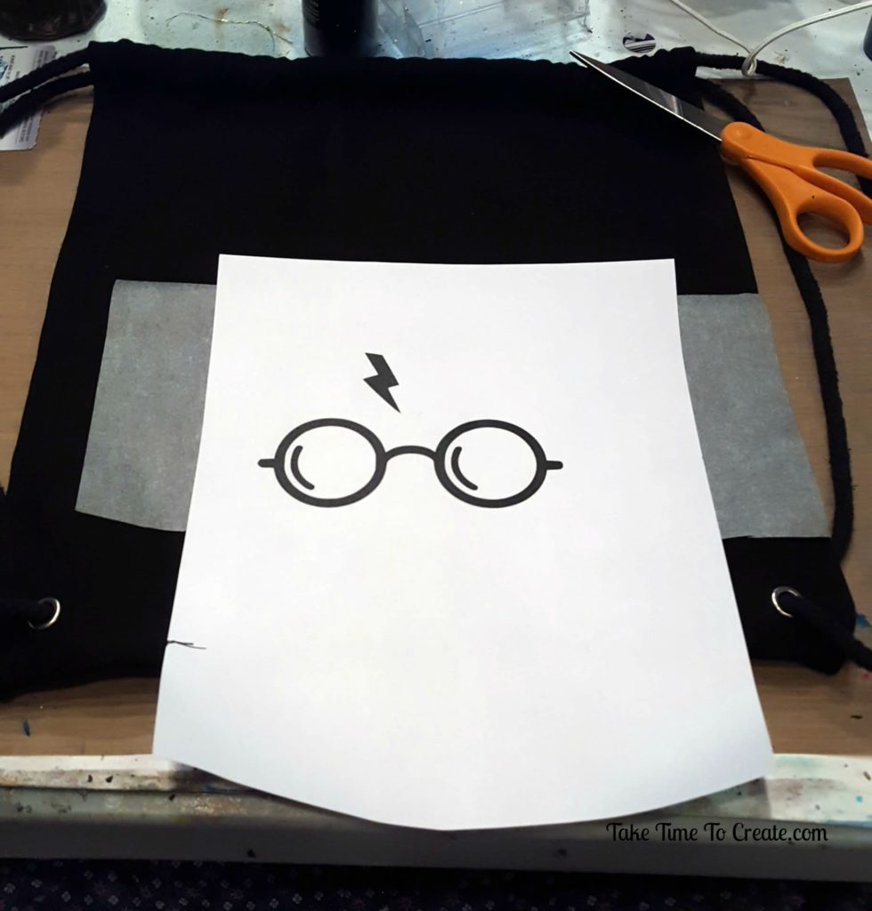 diy harry potter drawstring backpack