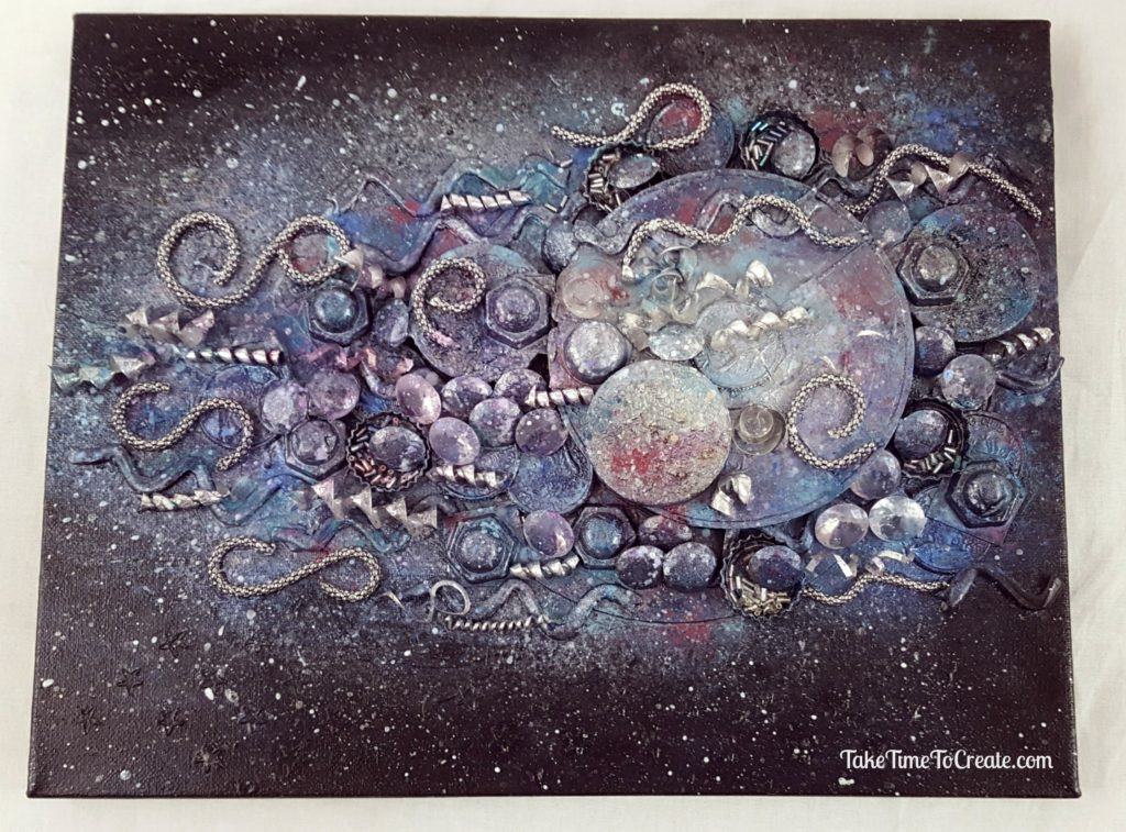 galaxy mixed media canvas