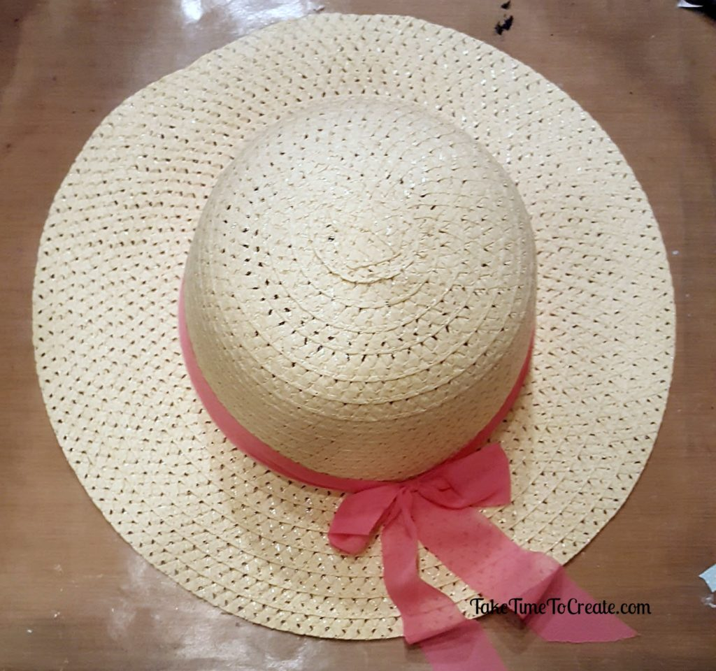 diy straw flower hat
