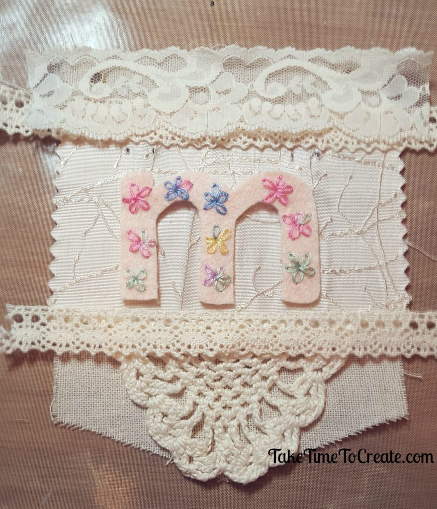 Imagine embroidery garland bunting