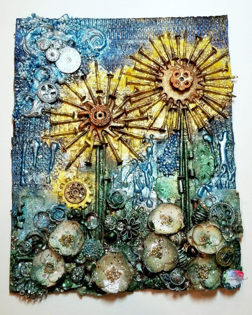 Sunflower Mixed Media