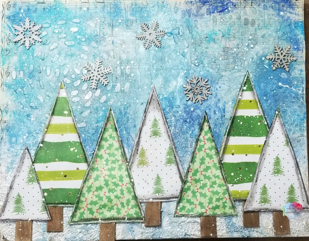 Christmas Tree Mixed media Canvas