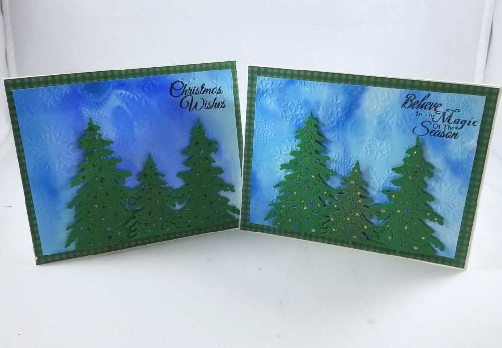 Christmas Card using Yupo Paper