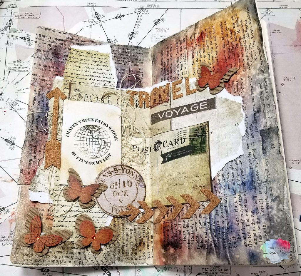 art journal travel page