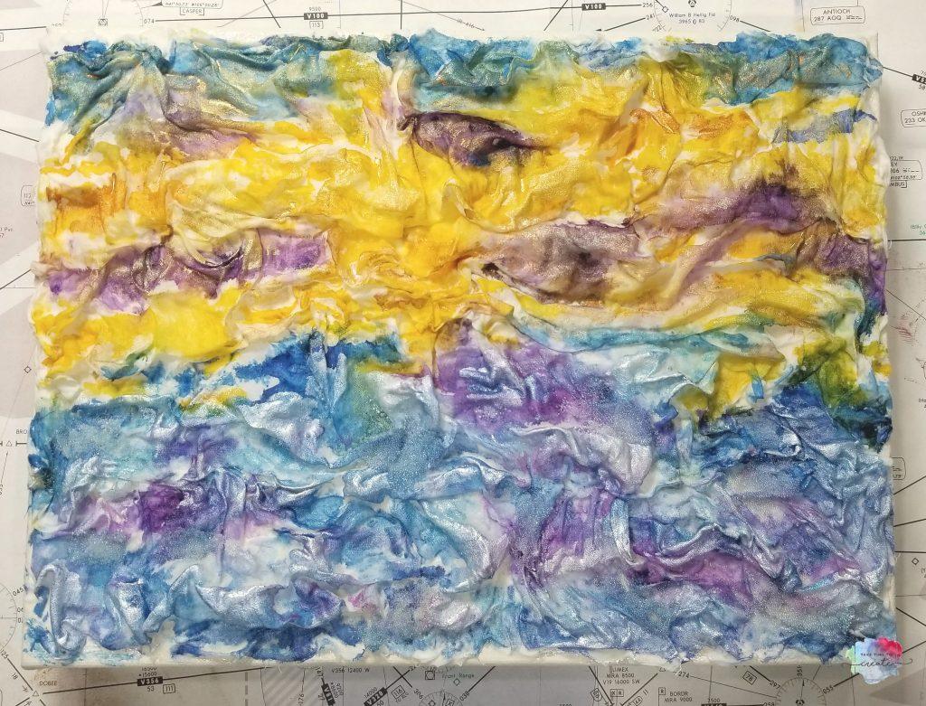 watercolor fabric landscape