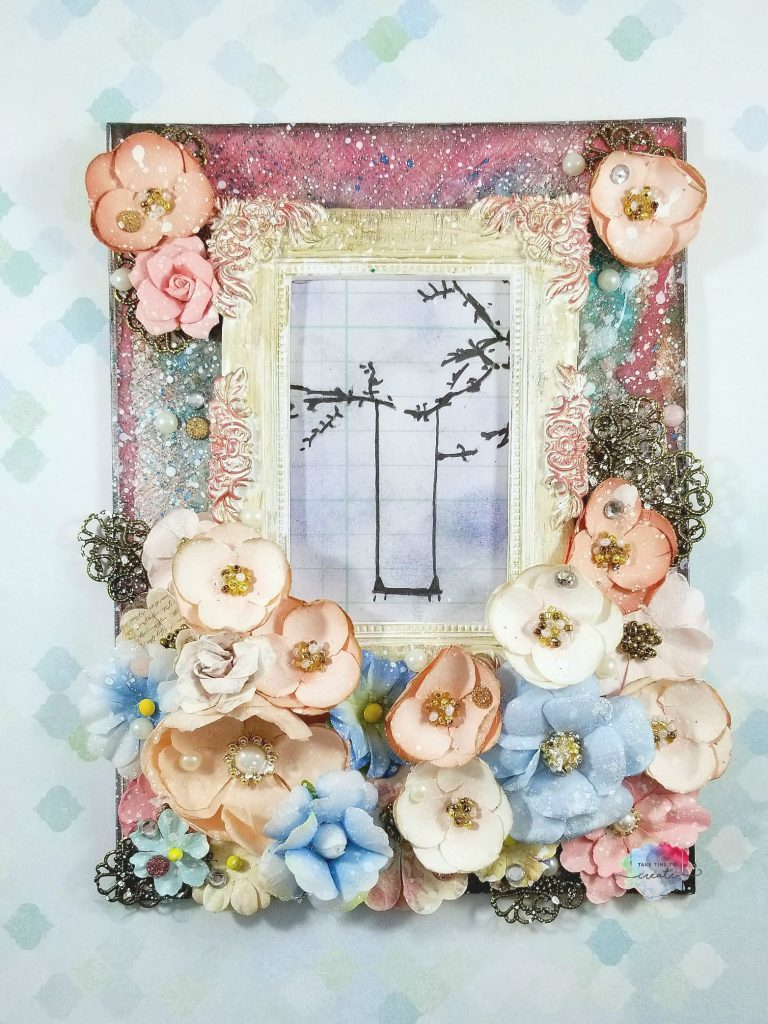 frame and flowers