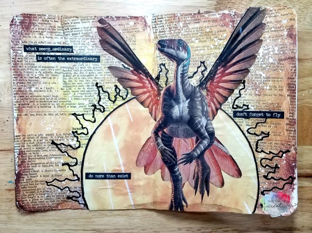 Dinosaur Bird Collage