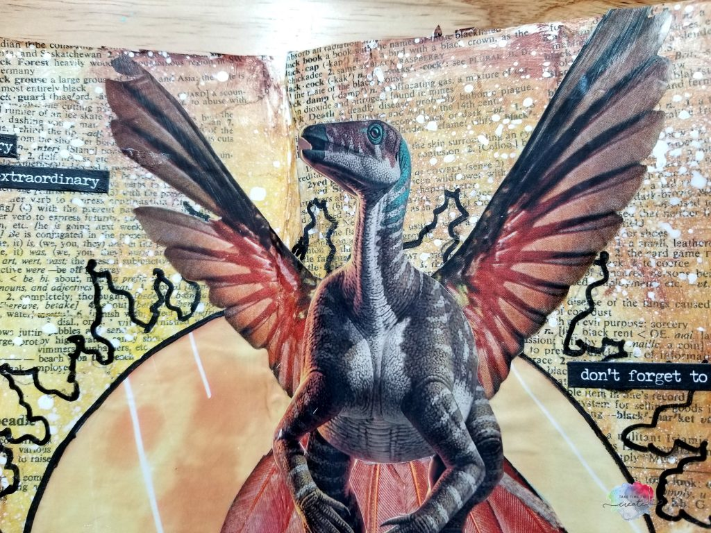Dinosaur Bird Collage