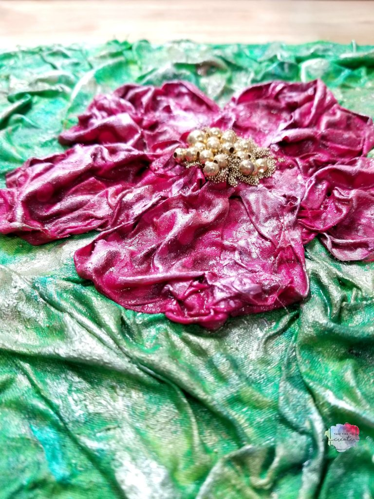 Hibiscus Flower Fabric Mixed Media