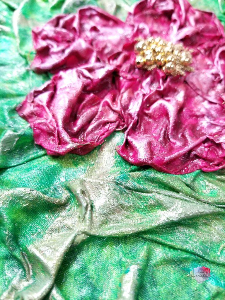 Hibiscus Flower Fabric Mixed Media